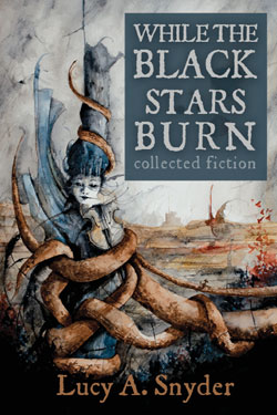 While the Black Stars Burn horror short story collection cover art